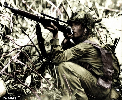 Marine sniper in the Pacific