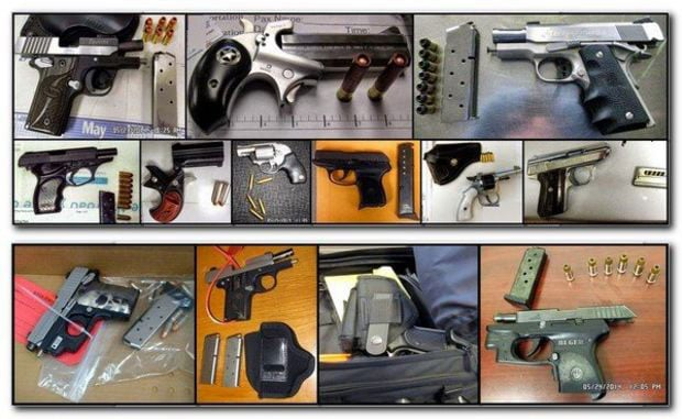 It doesn't matter how you pack it, your pistol's not coming on your carry-on, says the TSA. (Photo credit: Transportation Safety Administration)