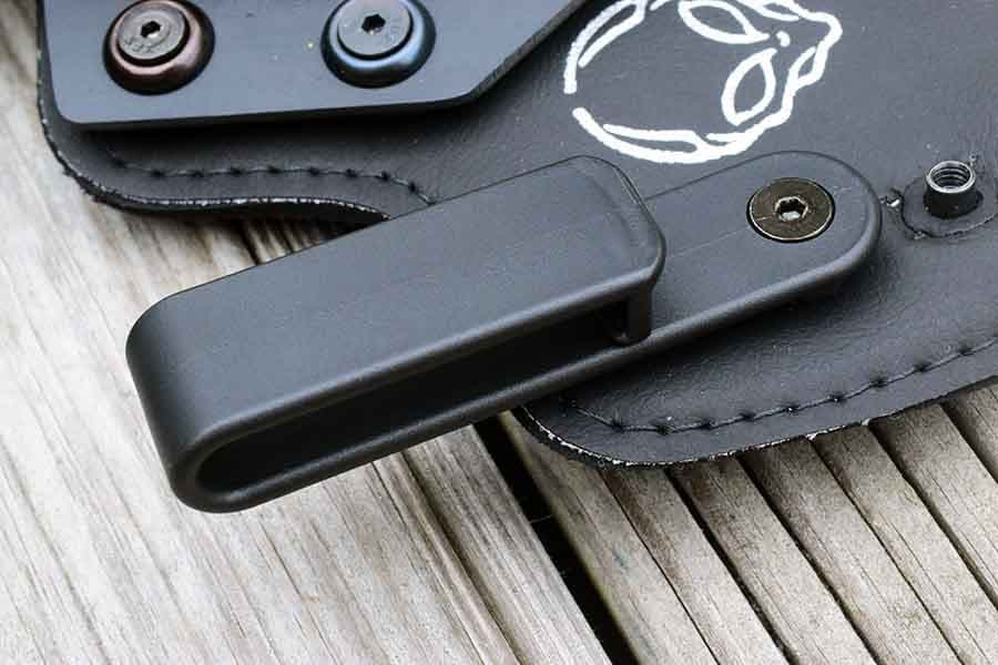 The Cloak Tuck's c-clamps securely hold your pistol where you want it (Photo by Jim Grant)