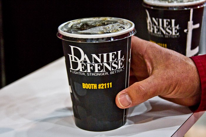 Daniel Defense is so proud of the slogan that it's even on cups.