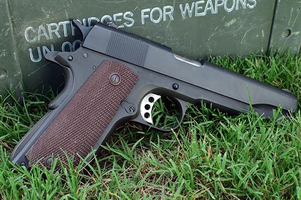 The M1911, the finest pistol of World War 2 (Photo by Jim Grant)