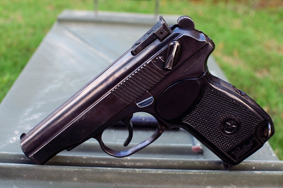 The IJ-70 is the import-friendly version of the Makarov PM, other than rollsmarks, the only difference is the adjustable rear sight (Photo by Jim Grant)