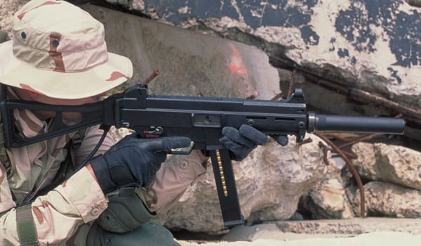 The H&K UMP .45ACP is a great choice for close quarters naval combat (Photo Credit: HK-USA)