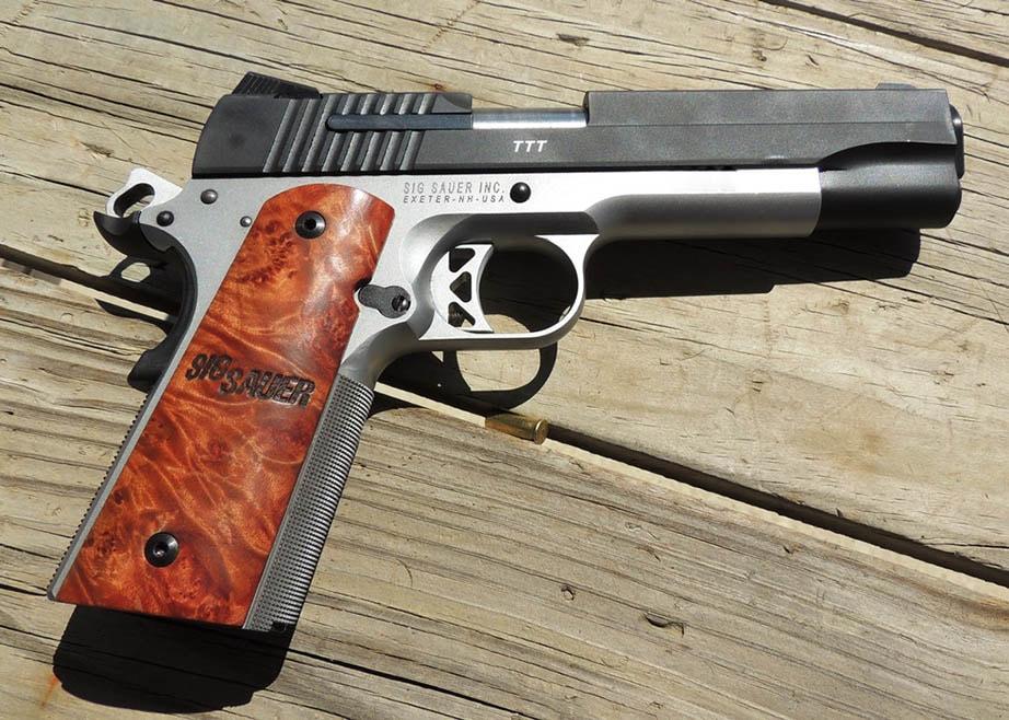 SIG triple T 1911 handgun