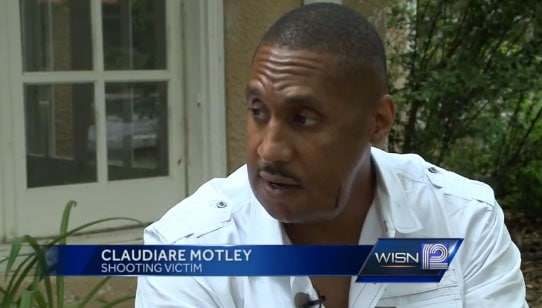 """We were hoping and praying that we'd get justice for what happened,"" said Claudiare Motley, who was shot in the face during a carjacking last month. (Photo credit: ABC)"