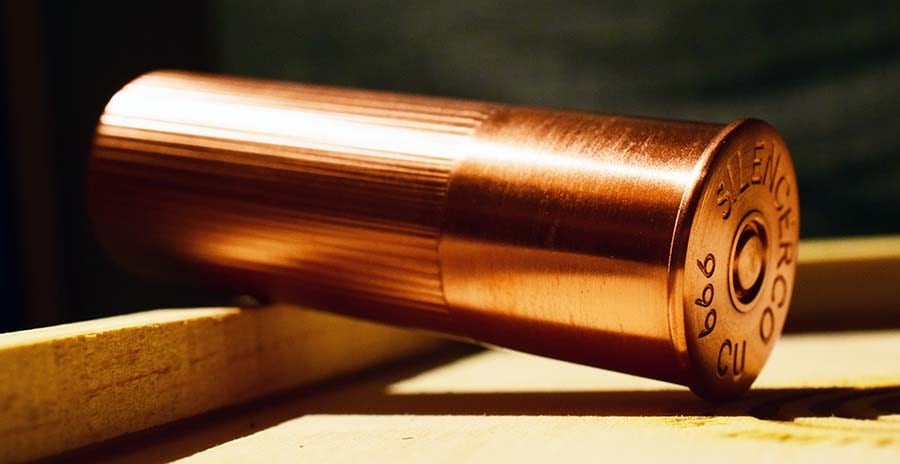 What does this solid-copper shotgun shell mean? (Photo by Jim Grant)