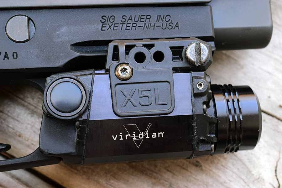The Viridian X5L laser/light combo is the perfect addition to your bedside blaster (Photo by Jim Grant)