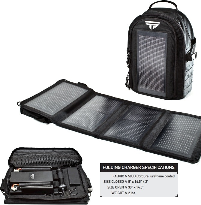 The Solar Backpack and the charging kit. (Photo credit: TP)