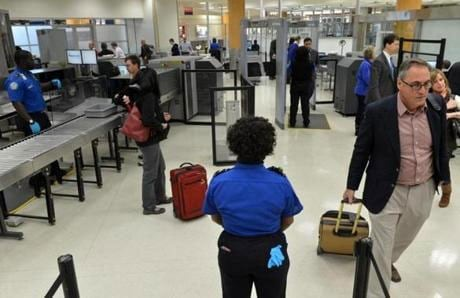 It's unclear if more firearms are being found due to the increase in security or if more passengers are attempting to sneak them past security. (Photo: Boston Globe)