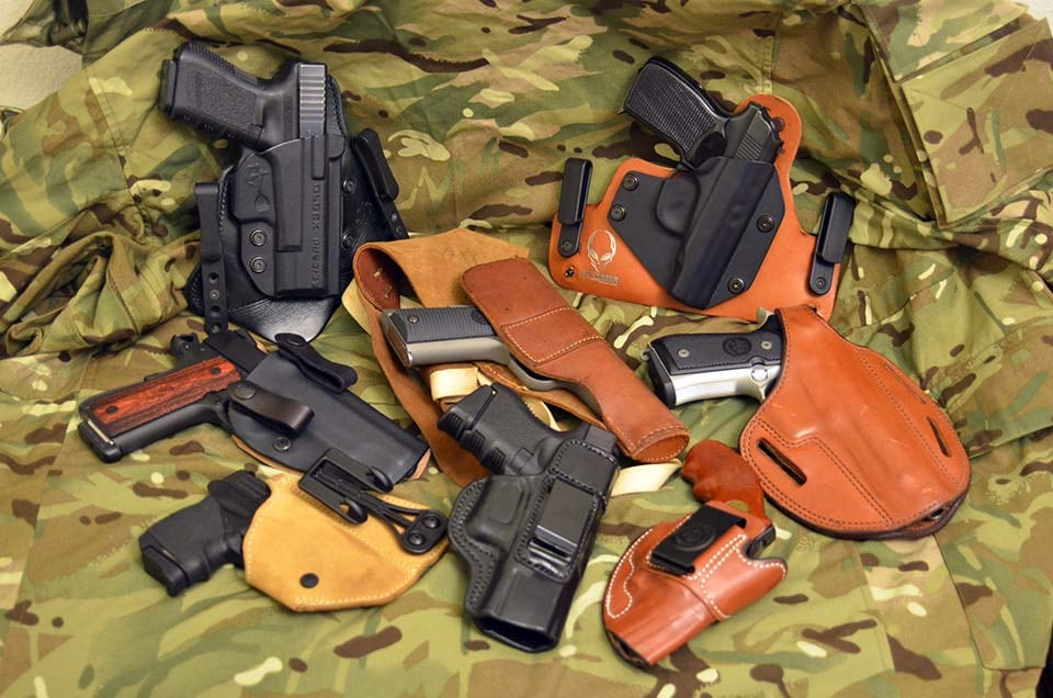 different holsters