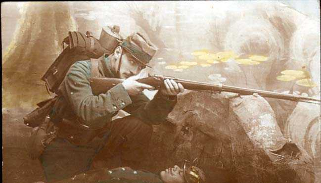 French Soldier with Chassepot 1866 rifle