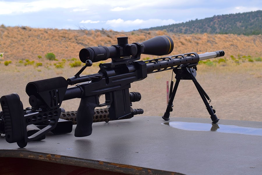 One great thing about modern competitions is that most don't require expensive equipment like this custom rifle. (Photo: Jim Grant)