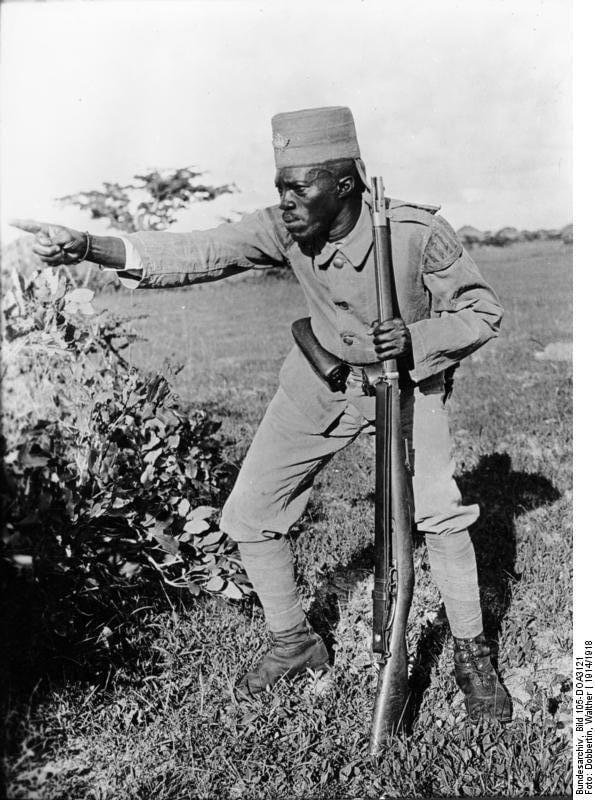 Askari rifleman M71 WWI