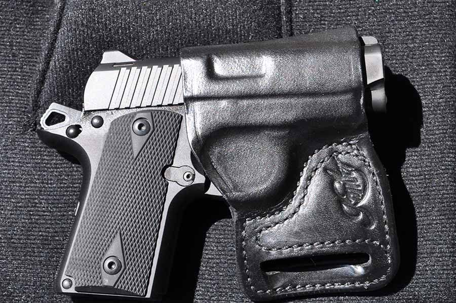 kimber micro carry in IWB holster