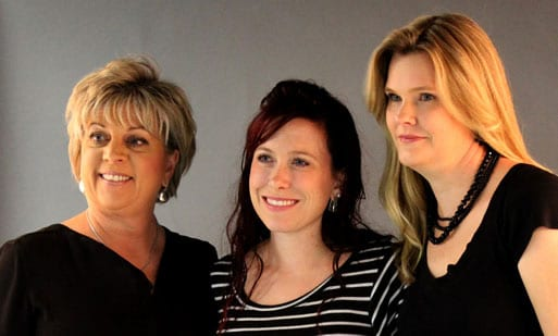 Vicki Kawelmacher, Alisha Ketter and Amanda Collins