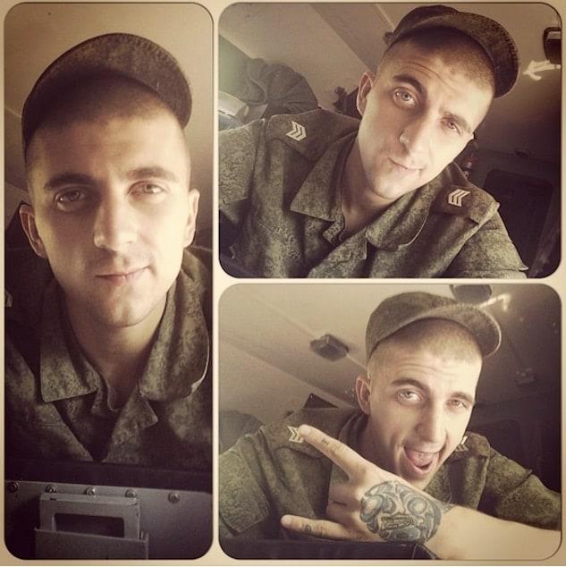 russian soldier selfie
