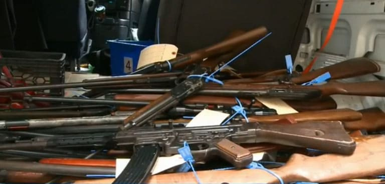 More than 100 firearms were collected during the first hour. Three hours later, that number had increased to nearly 500. (Photo: WGRZ)