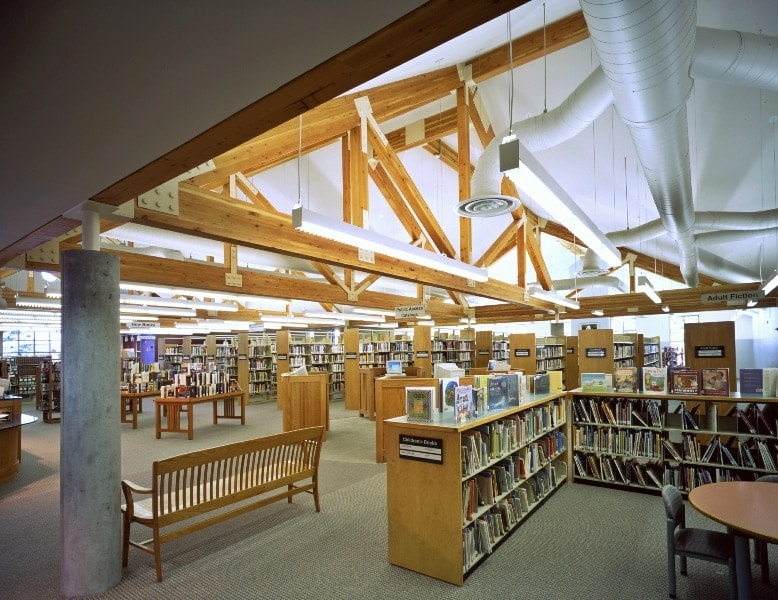 The Windsor Severance Library, where controversy on gun laws has its own section. (Photo: Mark Young Construction)