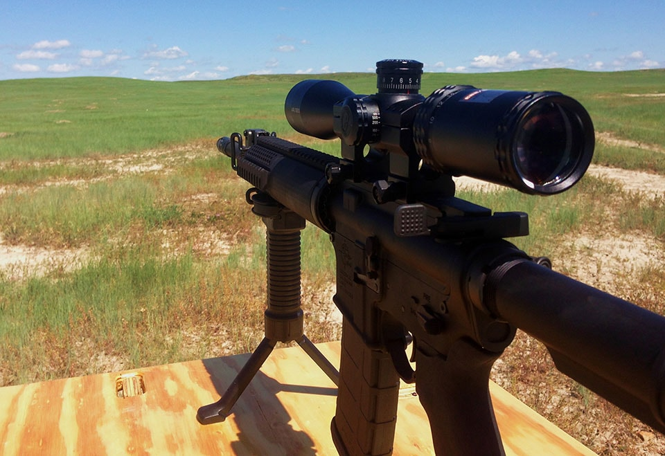Bushnell's purpose-built AR optic is your long-range AR15's best friend (Photo by Kristin Alberts)