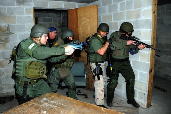 Local law enforcement training at a National Guard Counter Drug Training Center in Florida.  (Photo: FL Army National Guard)