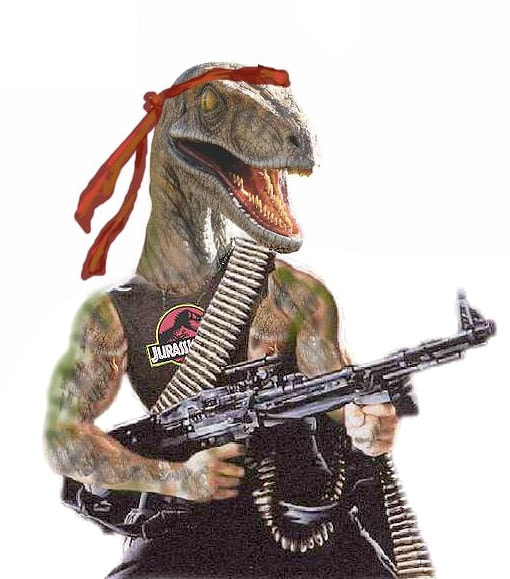 It's unknown if the dinosaur in the story was also armed, but if he was, he likely would have looked similar to this. (Photo: Bizzaro Central)