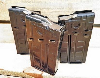 Extra mags sold in 3-packs for $24.