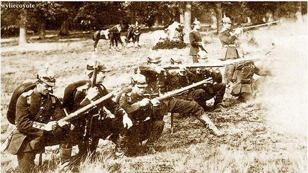German soldiers M71s