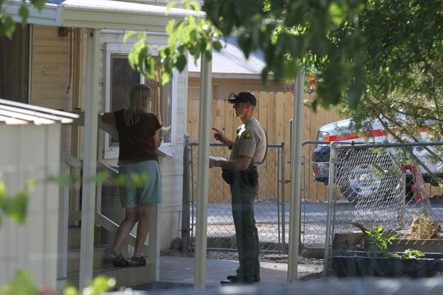 The child's mother told authorities that her ex-boyfriend had been violent in the past and was usually armed. (Photo: Record Searchlight)