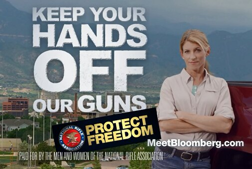 The National Rifle Association keep your hands off our guns ad