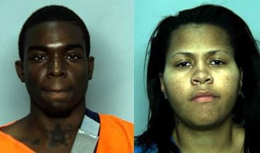 The two suspects, Terry Graves, left, and Michelle Barber, right. (Photo credit: Chesapeake Police Department)