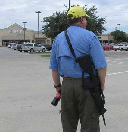"""""""Kroger's refusal to stop open carry is putting customers and employees at risk,"""" said Moms Demand Action on their Facebook page, but others aren't so convinced. (Photo: Facebook)"""