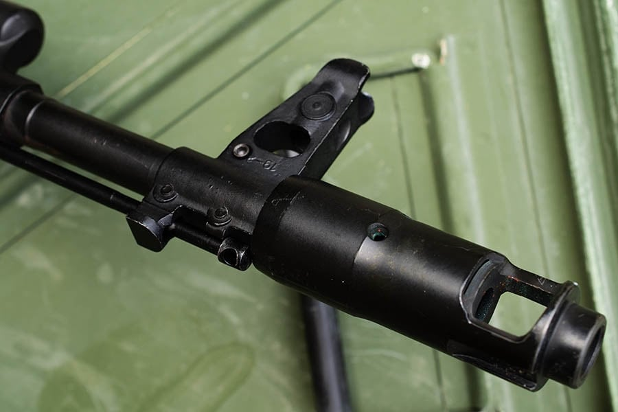 Certain muzzle brakes, like this one found on AK-74 rifles, are so unique they become iconic of the weapon they are introduced on. (Photo: Jim Grant)