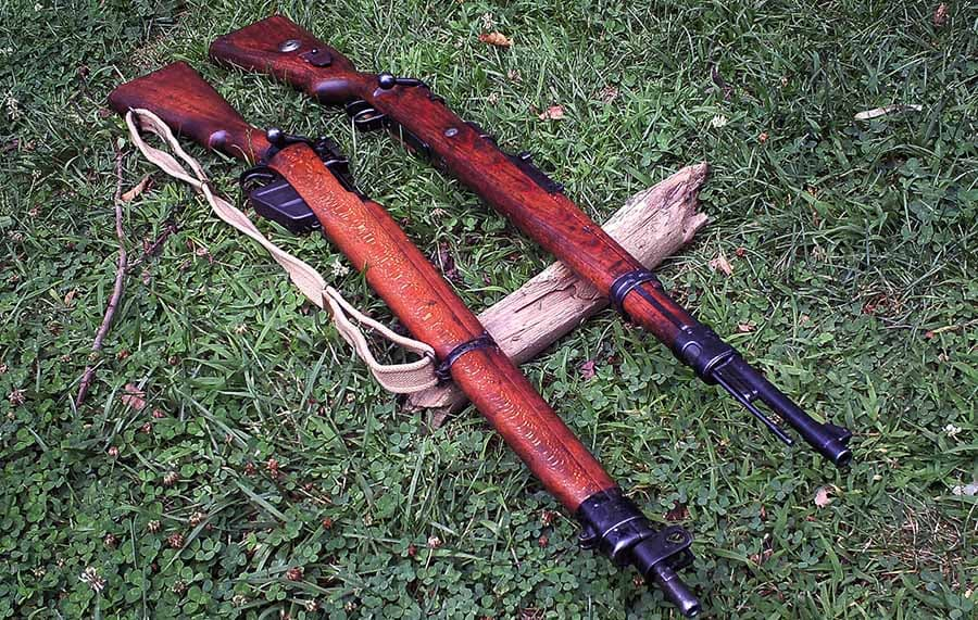 The German 98K shown above its English Rival, the Lee Enfield. Both weapons saw extensive use during and after the Second World War (Photo: Francis Borek)