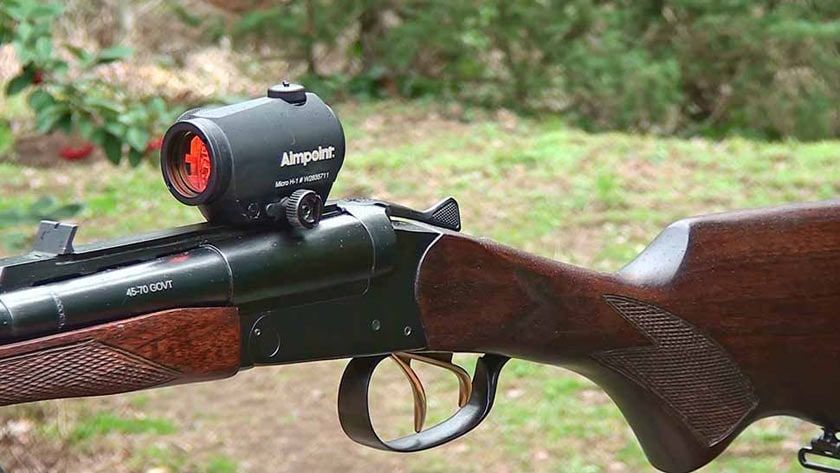 The H-1 can be mounted on shotguns of all varieties - from tactical models to more traditional models like this double barrel side by side shotgun. (Photo: Chassons.com)