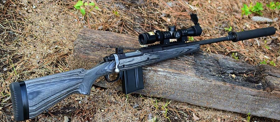 A bolt-gun, quality scope and sound suppressor make for an enjoyable day at the range (Photo: Jim Grant)