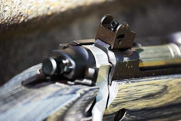 The military-style aperture sights on the Gunsite Scout are worlds apart from the tiny irons found on most bolt-guns. (Photo: Jim Grant)