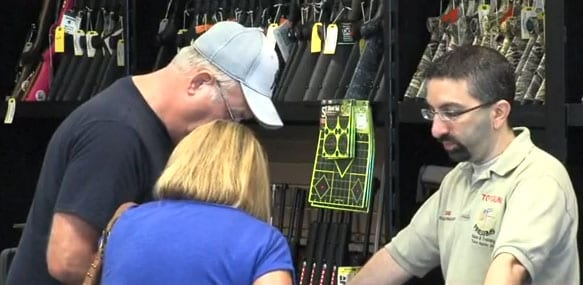 Steve Ellis, owner of Top Guns, said gun rights advocates shouldn't just simply carry concealed, they should avoid these businesses altogether. (Photo: WTHITV)