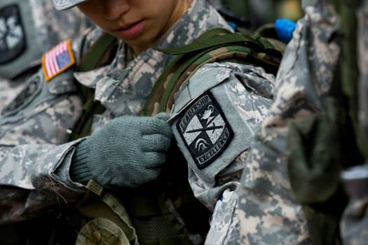 """It was not confirmed if the men were actually wearing """"flak jackets"""" or rather just BDUs. (Photo: University of Michigan)"""
