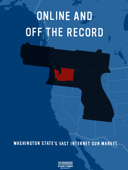Everytown for Gun Safety has released a new study in which they contend that one of ten online gun buyers in Washington State are criminals. (Photo: Everytown)