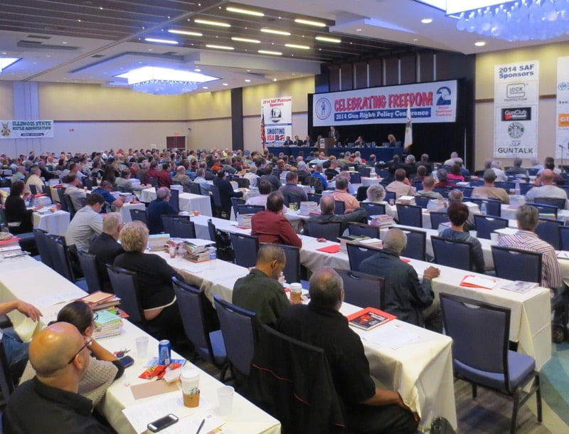 The ballroom was relatively full despite some absent attendants and speakers. (Photo: Daniel Terrill/Guns.com)