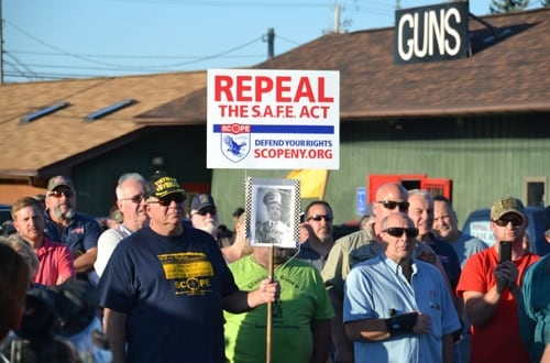 The Albion Gun Shop in upstate New York was the location of an anti-SAFE Act rally this week (Photo: Orleans Hub)