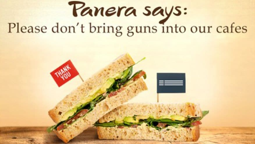 On Sept. 8, Panera started asking customers who are not law enforcement to leave their guns at home. (Photo: Twitter)