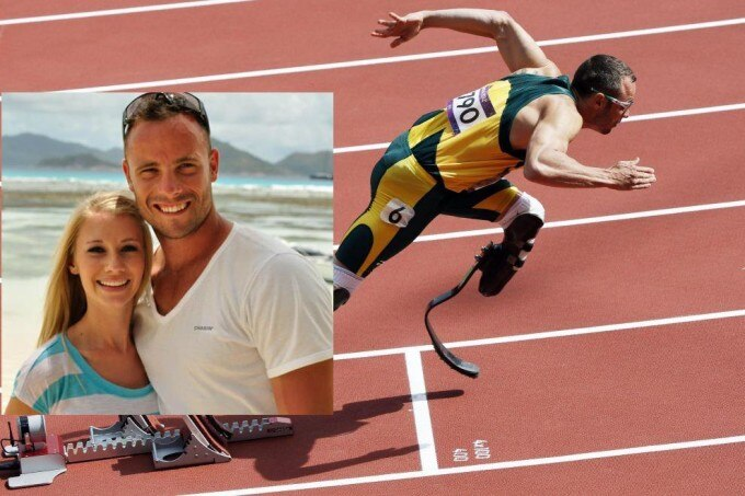 Pistorius with Steenkamp