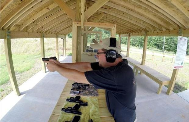 Jamie Wells fires gets some trigger time in at a new shooting range in North Carolina, one of three paid for by Pittman-Robertson funding collected on a tax of the firearms industry. (Photo: Chris Seward/News Observer)