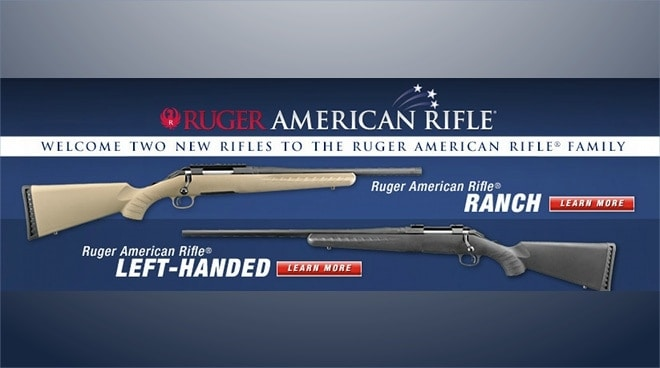 ruger ranch left handed american rifle