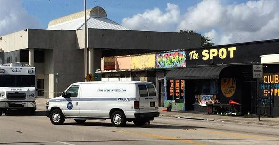 Police are looking for suspects following the injury of 15 people, mainly teenagers at the Spot nightclub in Miami Sunday morning. (Photo: Miami Herald)