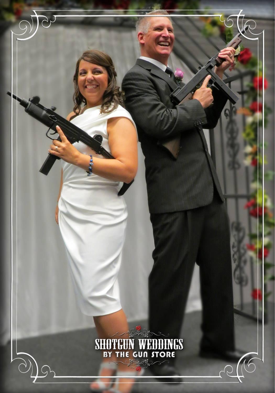 the gun store shotgun machine gun wedding (2)