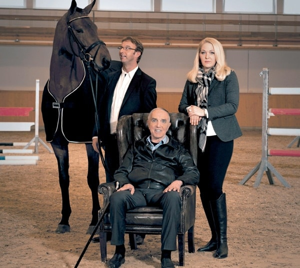 Gaston Glock, center, bought his wife Kathrin a $15 million horse in May.