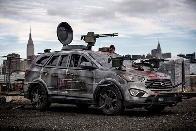 This is not an image of the actual car used in the hit-and-run, but it would be a good choice if one was attempting to take out some zombies.