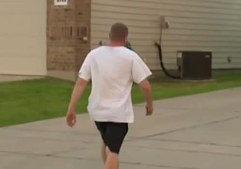 The victim was obviously distraught and did not want to show his face on camera. (Photo: KHOU)